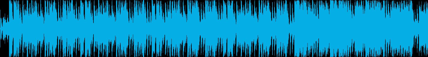 明るいロック、ブルース シンキングタイムの再生済みの波形