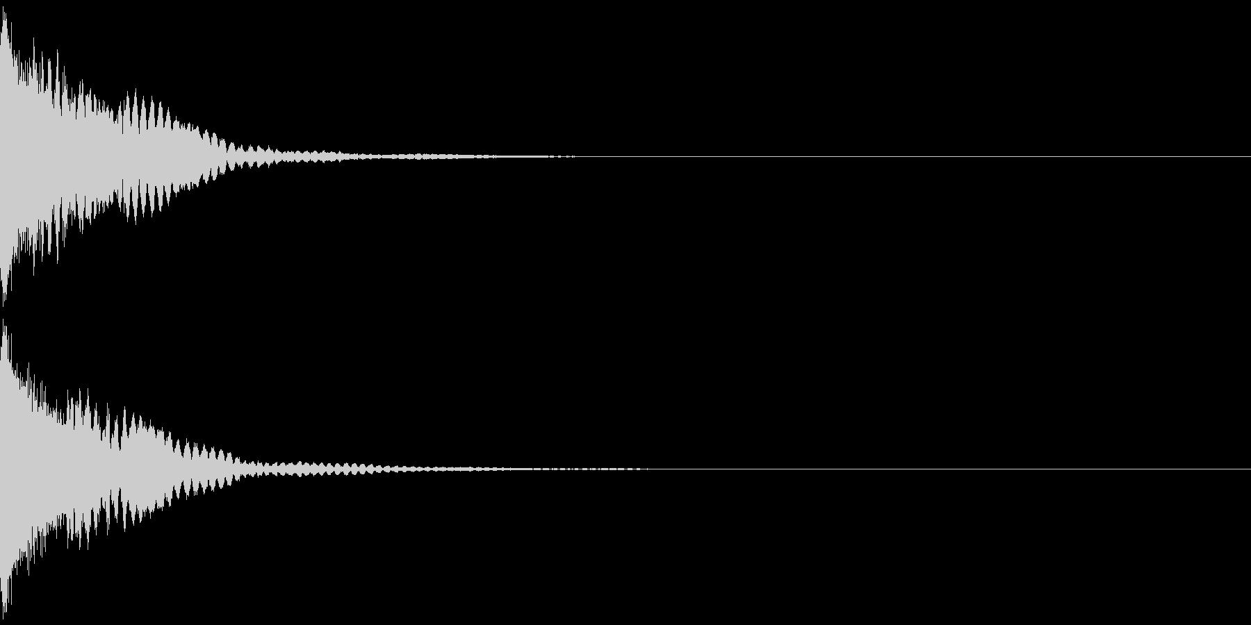 刀 キーン 剣 リアル インパクト Aの未再生の波形