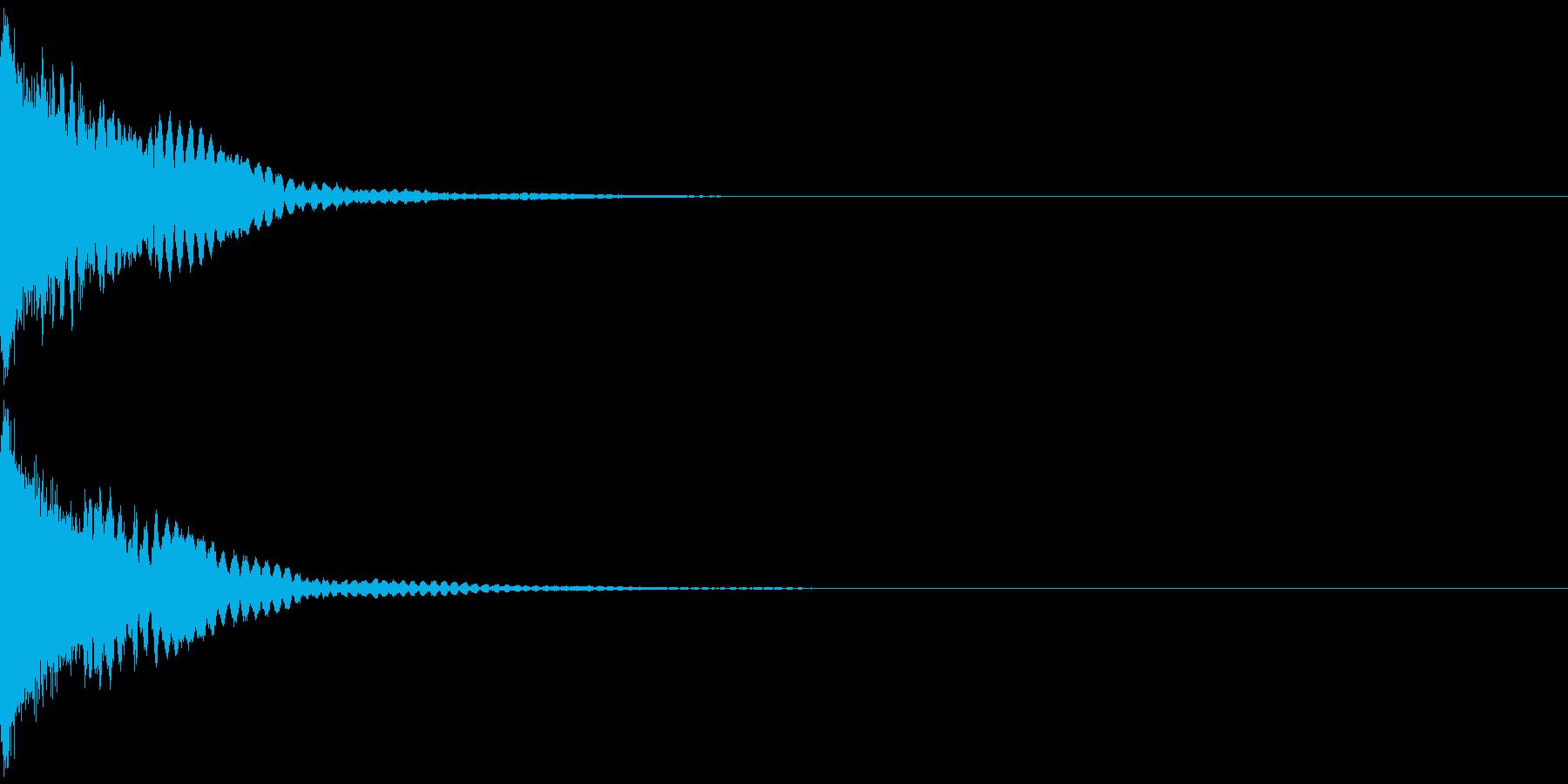刀 キーン 剣 リアル インパクト Aの再生済みの波形