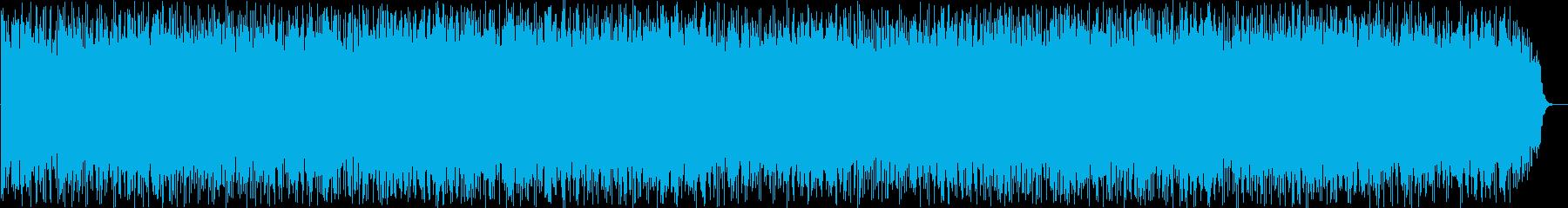 ゆったりとした風の竹笛のヒーリング音楽の再生済みの波形