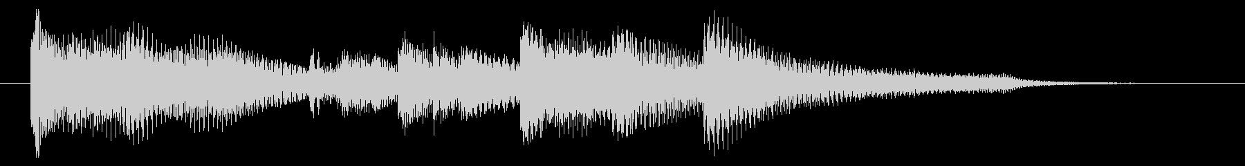 爽やか ピアノ&アコギ ジングル 5秒の未再生の波形