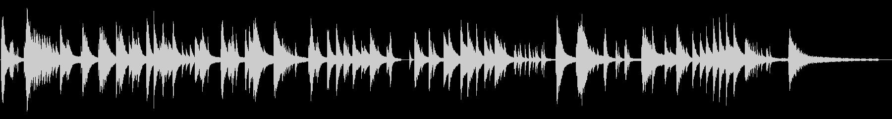 寂しげな現代音楽風ピアノソロの未再生の波形