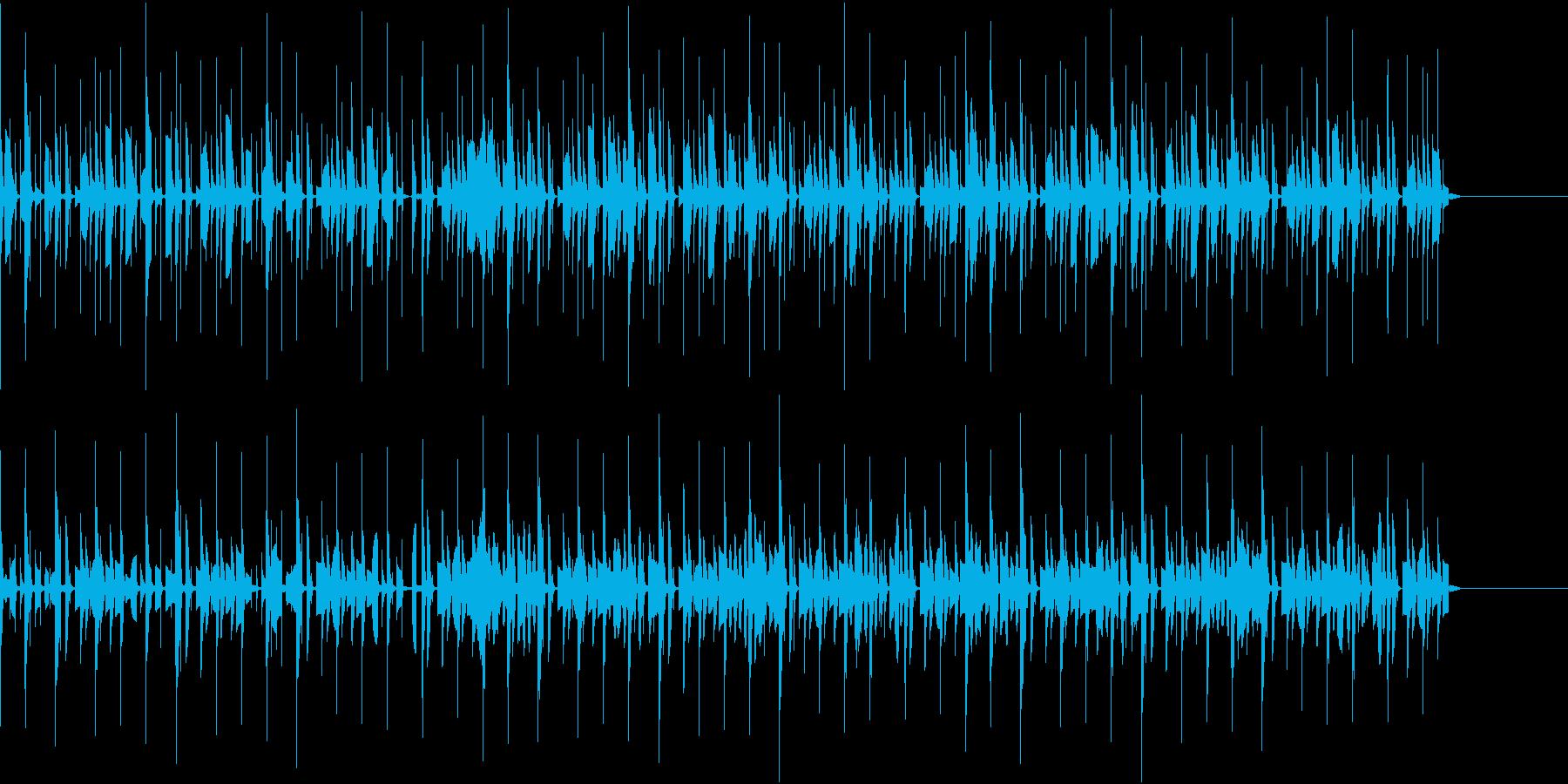 電子楽器を使ったやわらかいBGMの再生済みの波形