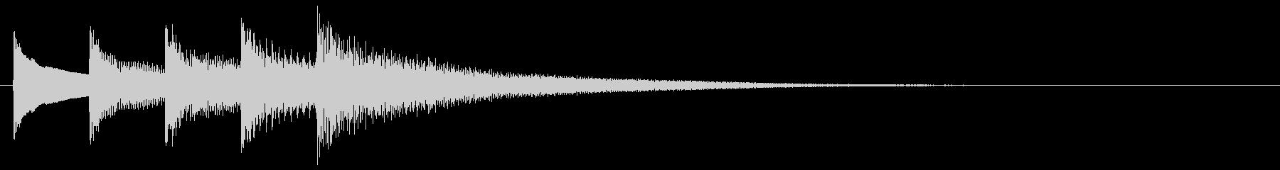 和風効果音 琴 短めなフレーズ Eの未再生の波形