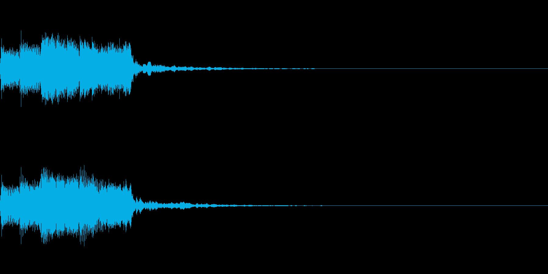 アイキャッチ、ロゴA07の再生済みの波形