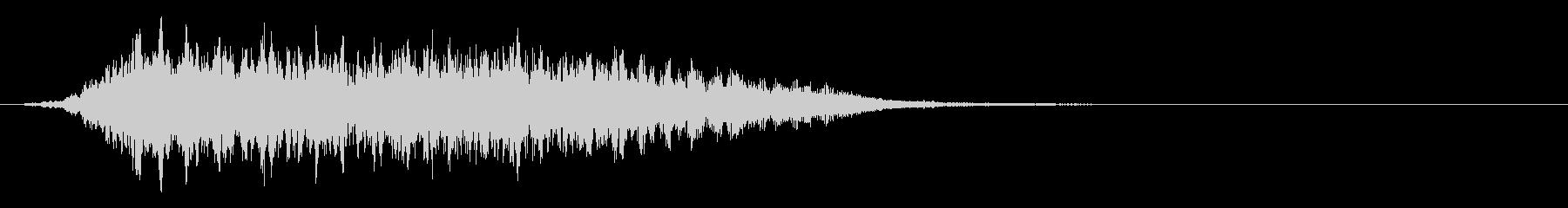 神秘的な不気味なエアリーロゴの未再生の波形