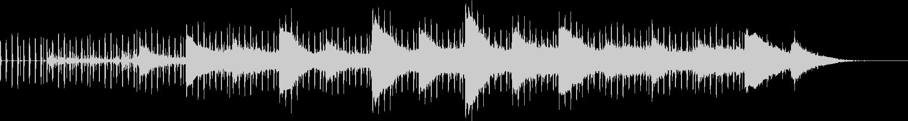 平坦な調子の打ち込み曲の未再生の波形