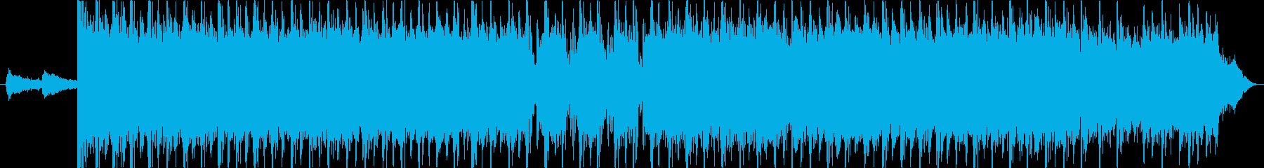 疾走感のあるスラッシュメタルのギターリフの再生済みの波形
