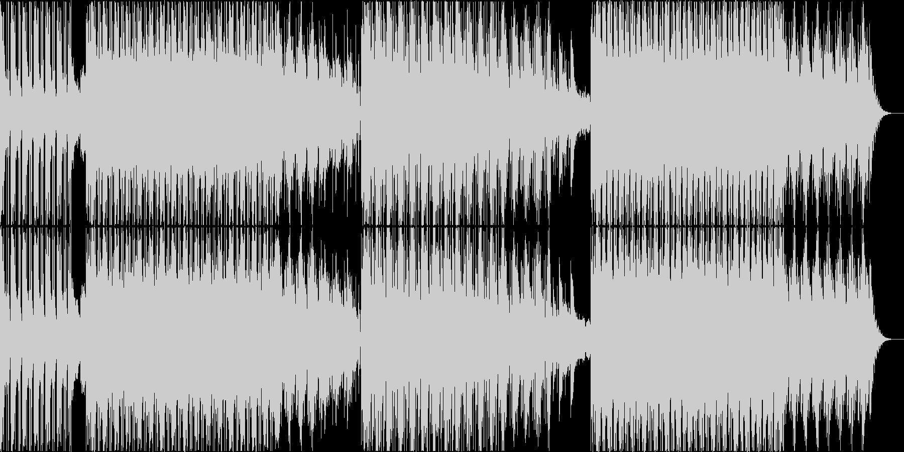 ダークな世界観のダブトラックの未再生の波形