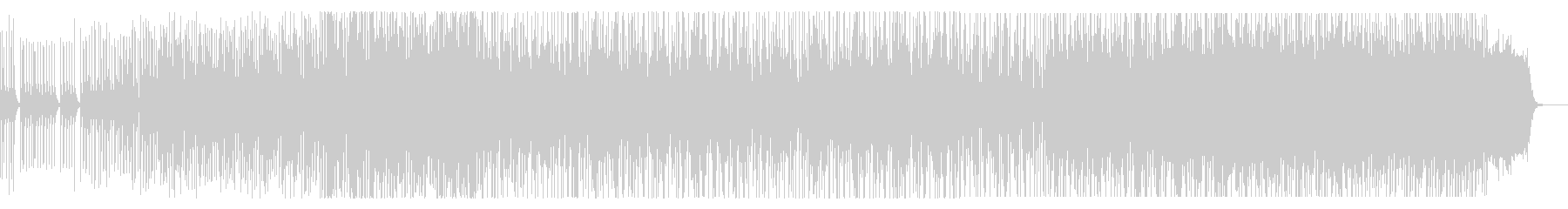 ポップな和風ヒップホップの未再生の波形