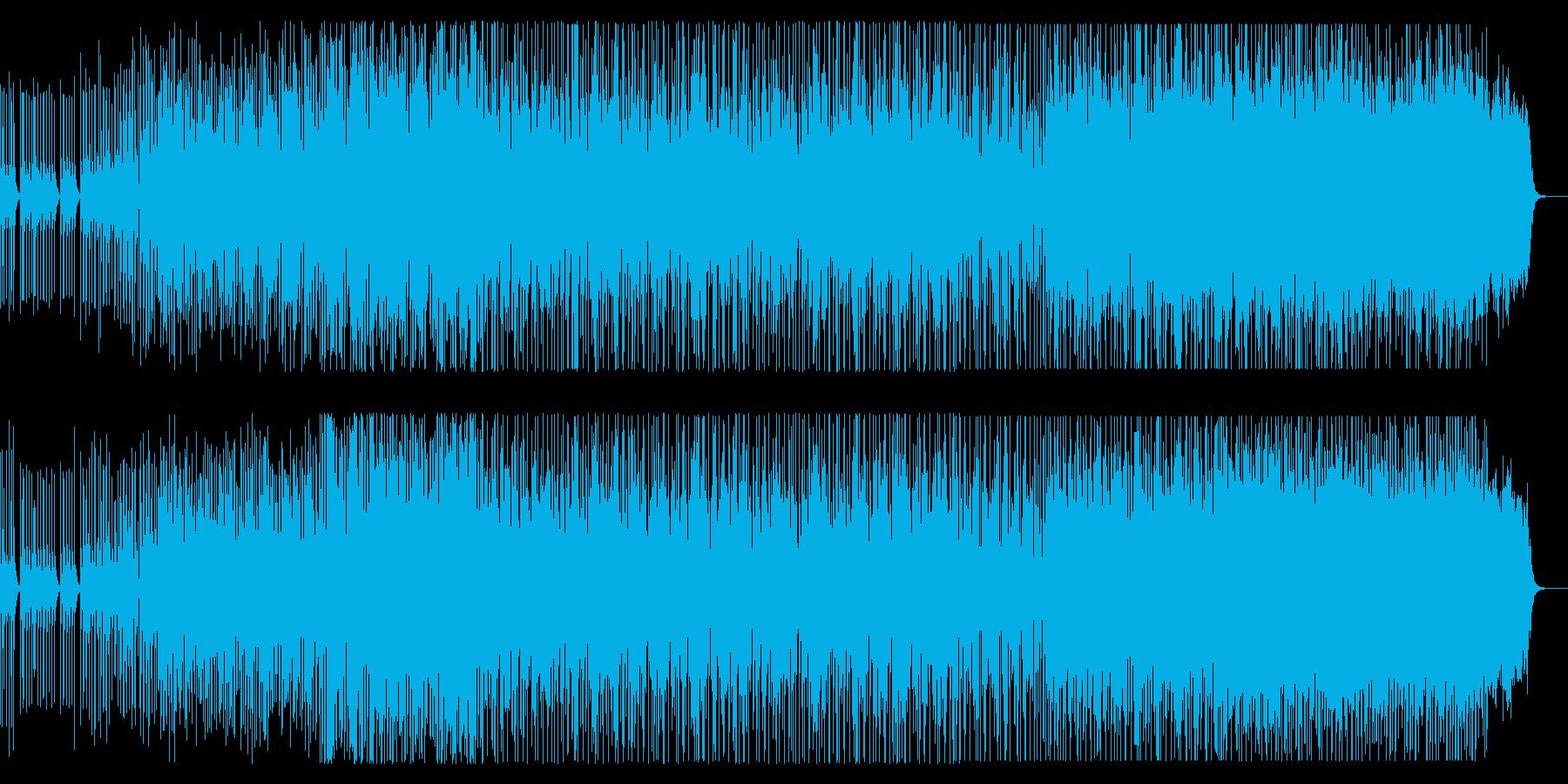 ポップな和風ヒップホップの再生済みの波形
