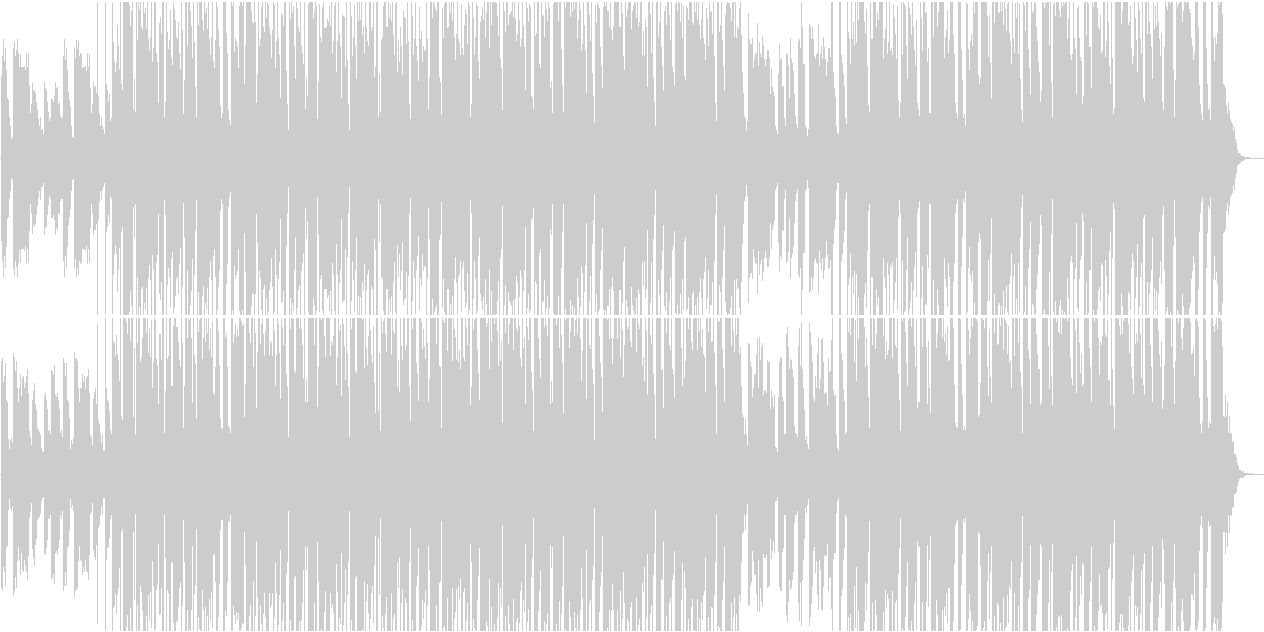 エモーショナルHIPHOPタイムラプスの未再生の波形