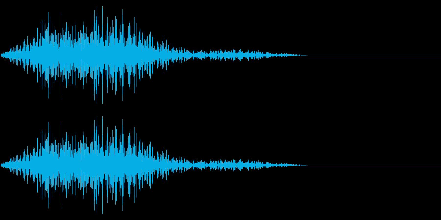 雰囲気を問わず使えるキャンセル音です。の再生済みの波形