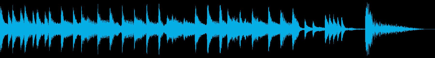 【ジングル】カートゥーン風コミカルジングの再生済みの波形