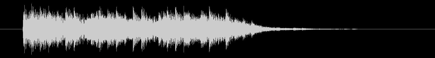 シンセ アコギ ジングル サウンドロゴの未再生の波形
