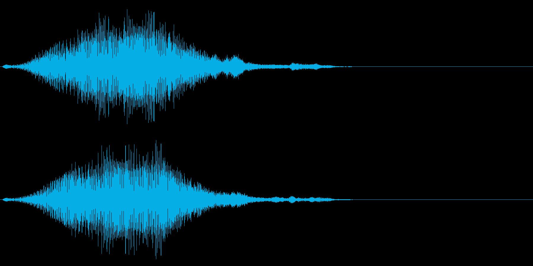 グワァーン…暗い起動音風ジングルの再生済みの波形