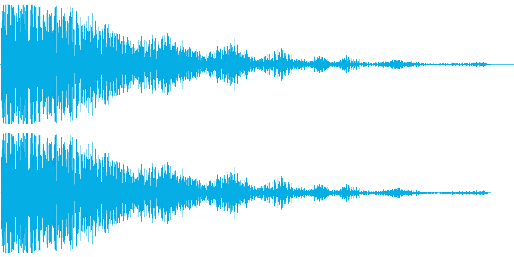 残念なイメージの効果音(ティンパニー系)の再生済みの波形