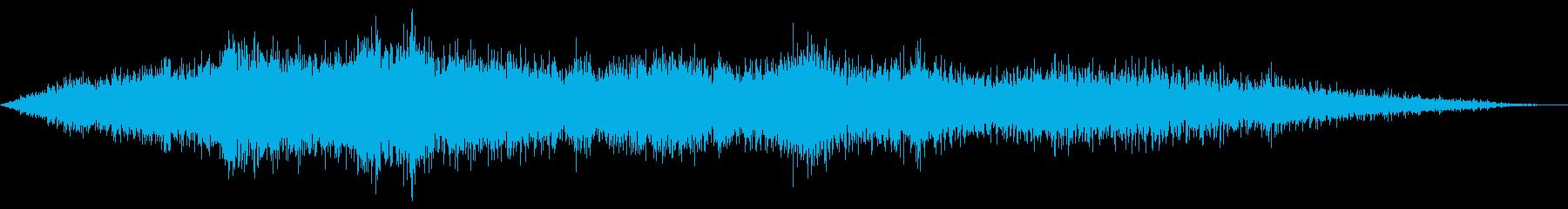 ヘリコプターの飛行の再生済みの波形