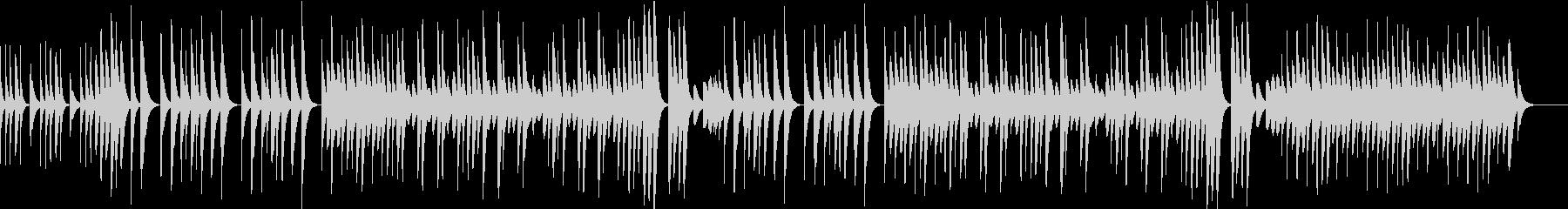ほのぼのとした木琴のBGMの未再生の波形