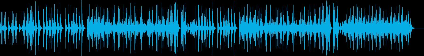 ほのぼのとした木琴のBGMの再生済みの波形