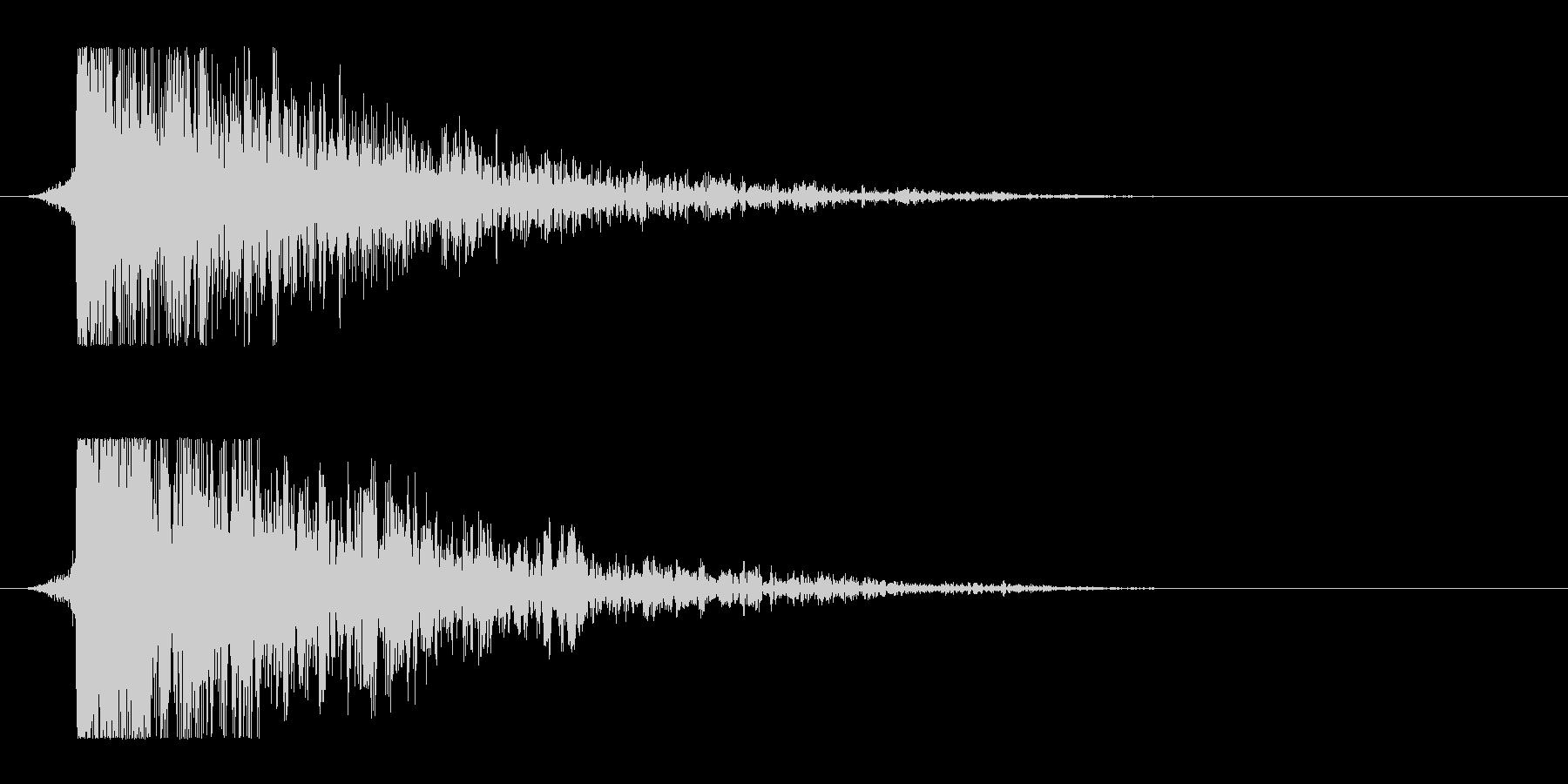 シュードーン-13(インパクト音)の未再生の波形