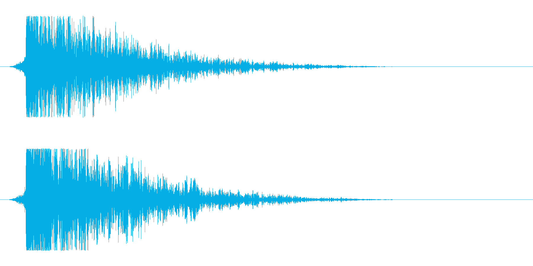 シュードーン-13(インパクト音)の再生済みの波形