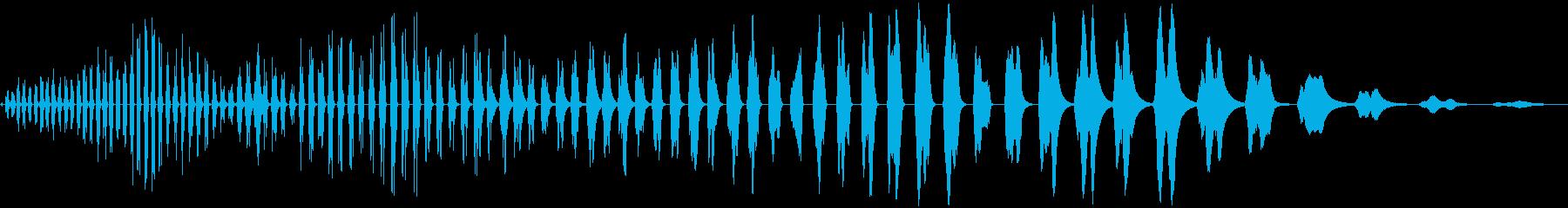 ダウンダウンザップの再生済みの波形