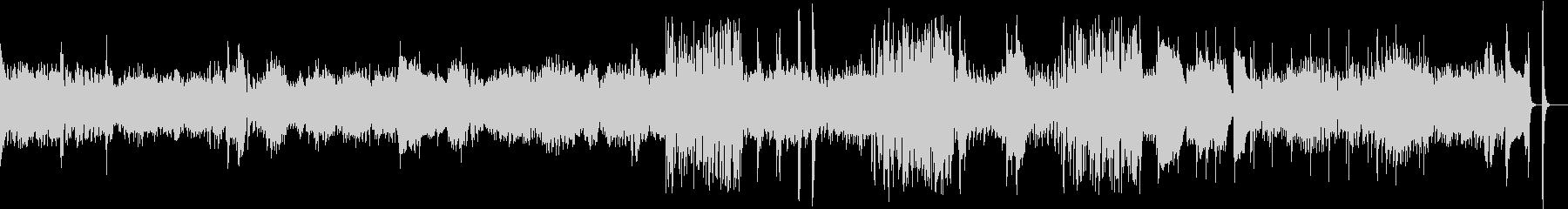 切ないピアノの旋律からのジャズアレンジの未再生の波形