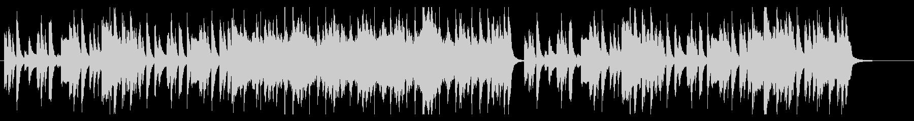日常のほのぼのとした雰囲気のBGMの未再生の波形