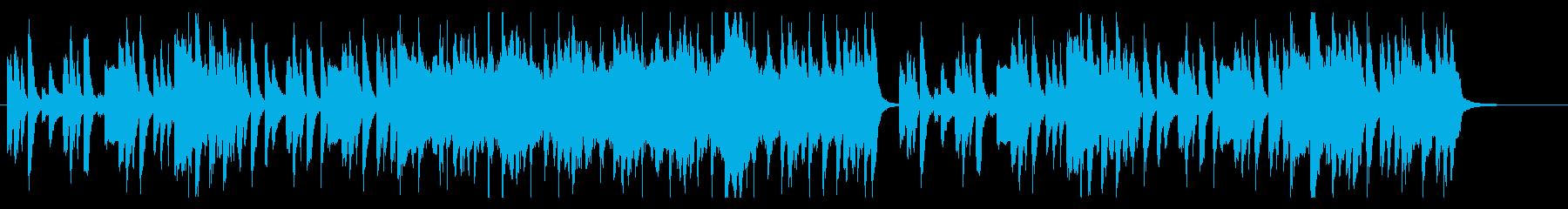 日常のほのぼのとした雰囲気のBGMの再生済みの波形