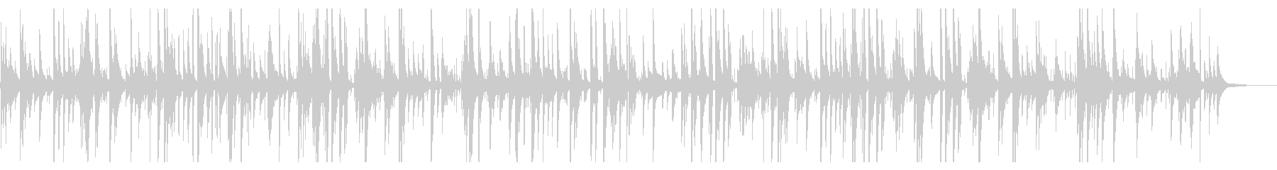 かっこいいジャズピアノバラードBGMの未再生の波形