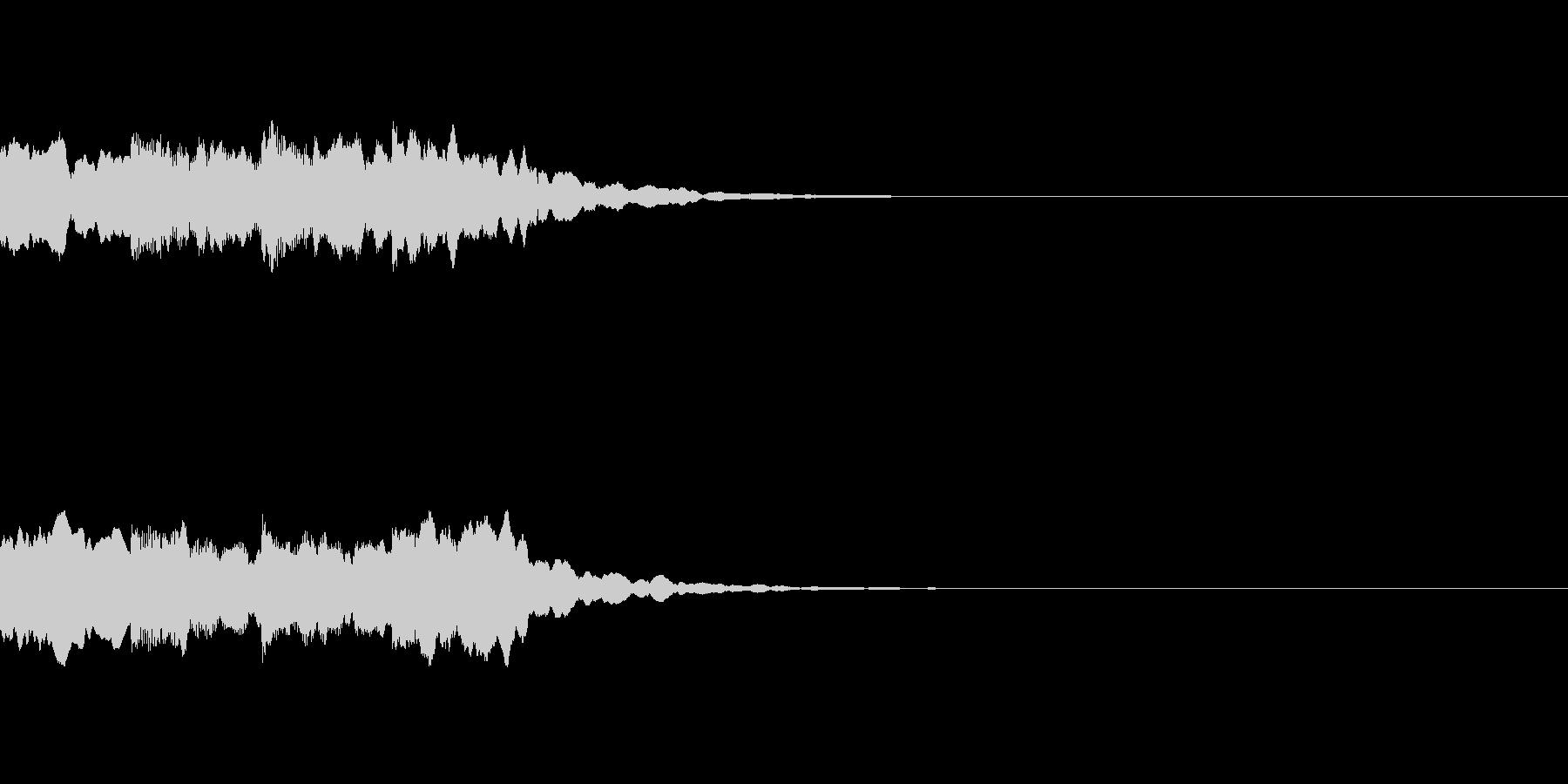 ピンポンパンポン シンセ 上昇の未再生の波形