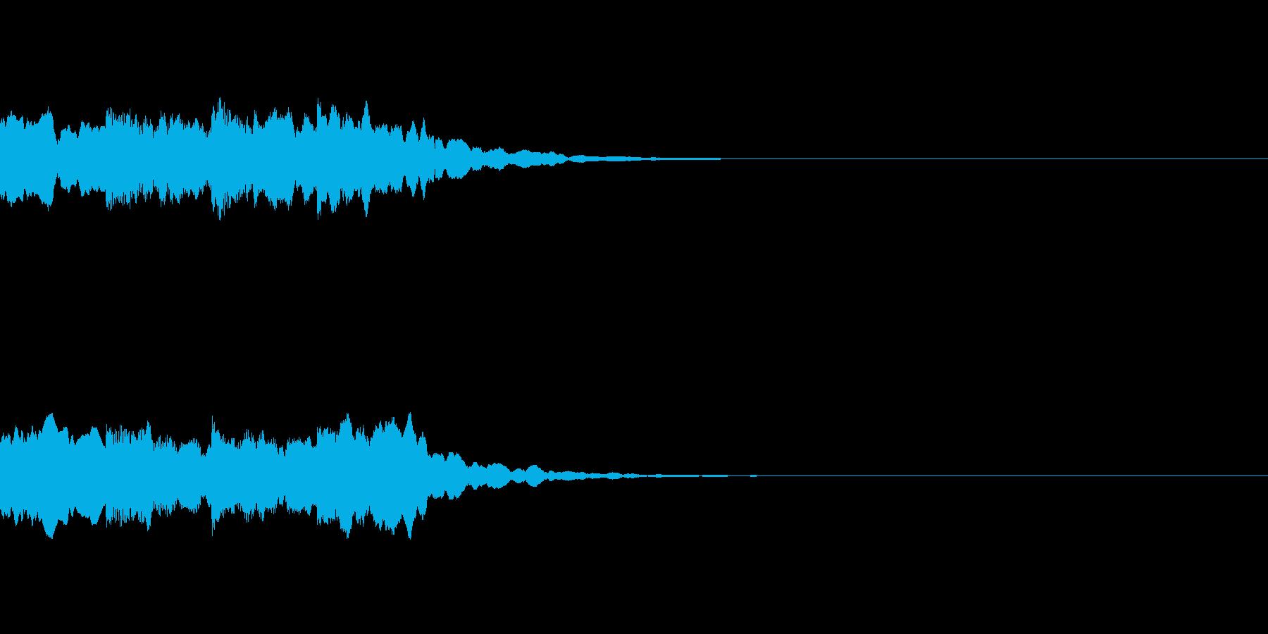 ピンポンパンポン シンセ 上昇の再生済みの波形