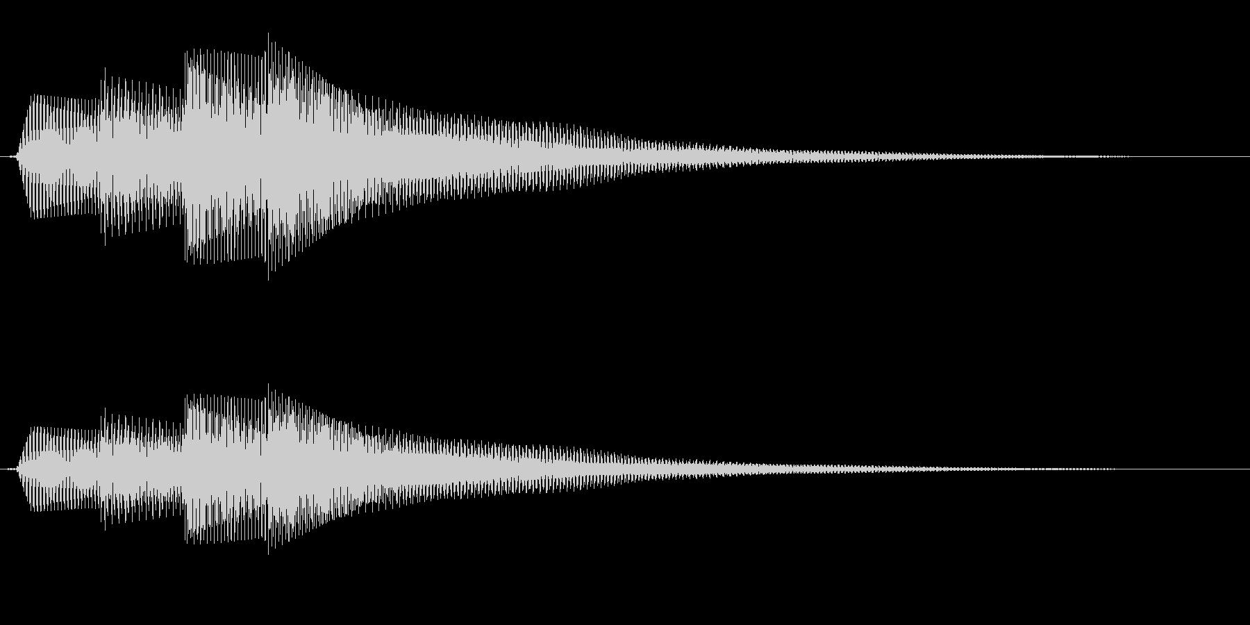 シンプルな通知音_01の未再生の波形