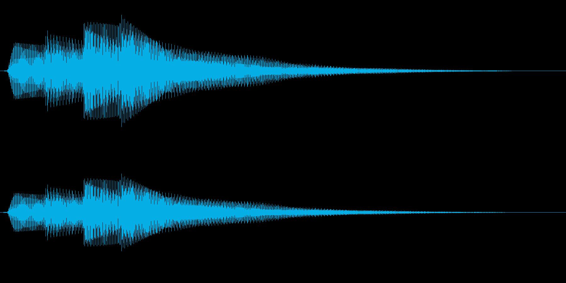 シンプルな通知音_01の再生済みの波形