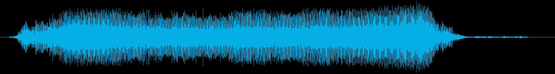 吹くパーティーブローアウトホーンの再生済みの波形