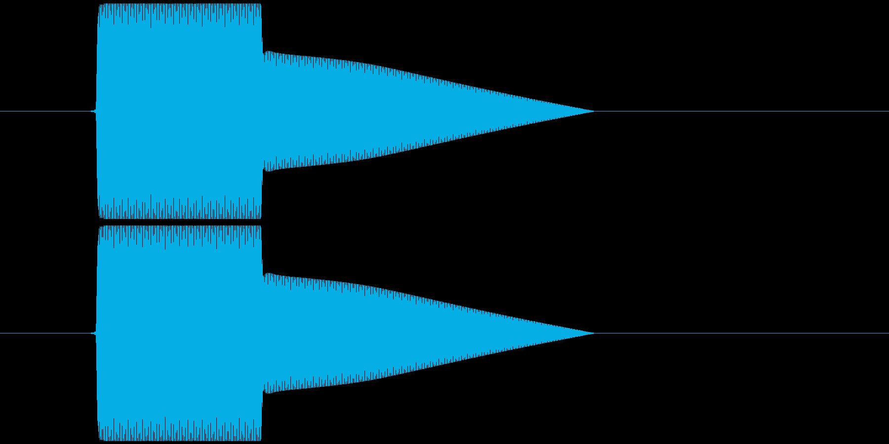 528Hzのボタン音 ヒーリングの再生済みの波形