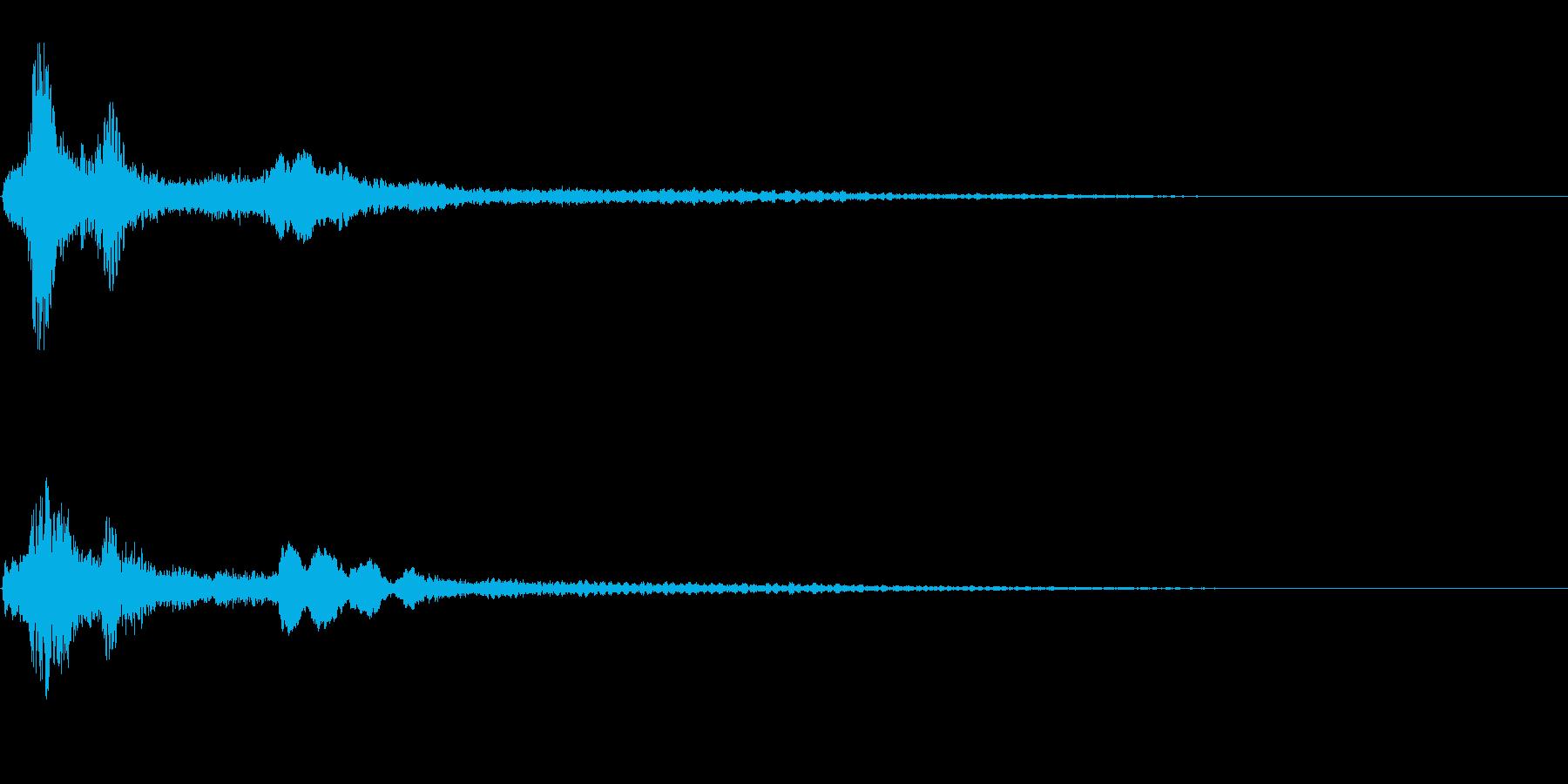 サスペンスに最適!ピアノの弦を弄ぶ音53の再生済みの波形