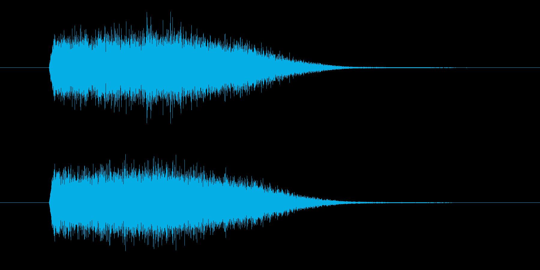 風や速さをイメージさせる効果音_SEの再生済みの波形