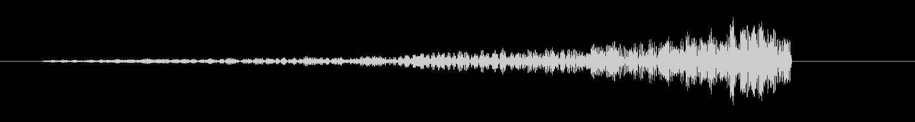 低ディープランブルビルドアップリバースの未再生の波形