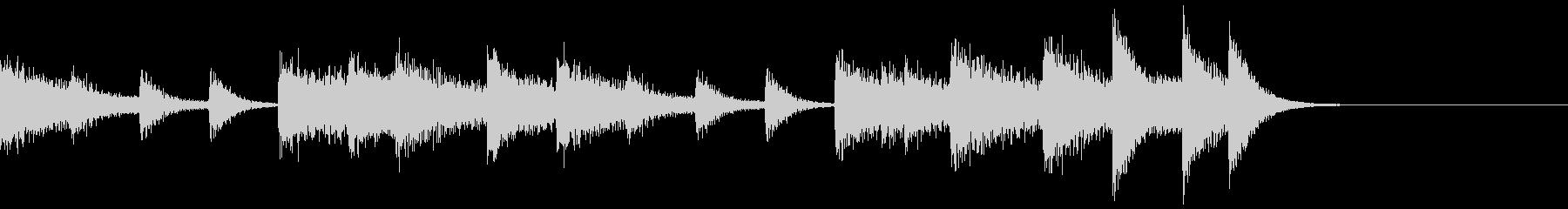 不協和音コードが美しいピアノジングルの未再生の波形