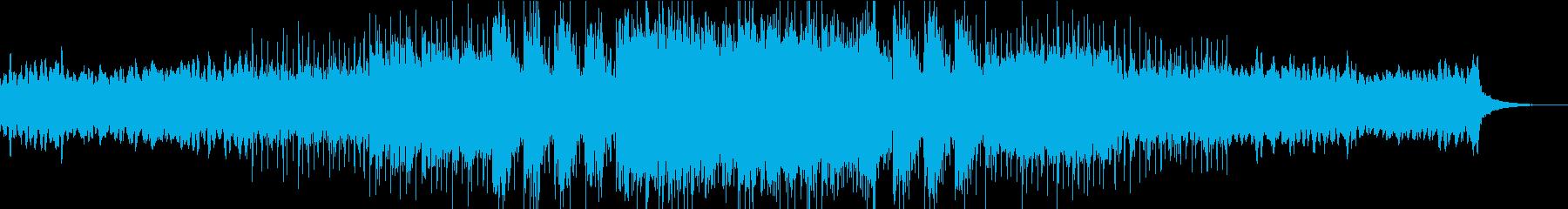 水の不動性を表現したエピック風のBGMの再生済みの波形