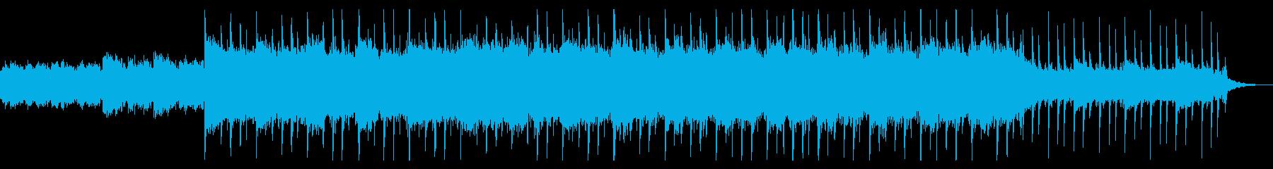 冷静でさらっとした旋律のニュース系BGMの再生済みの波形