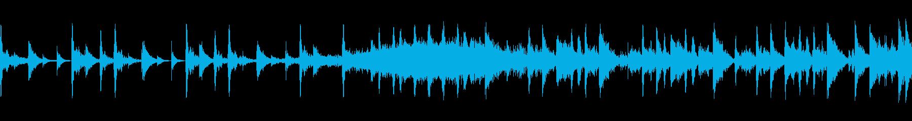 イントロから展開していくテクノの再生済みの波形