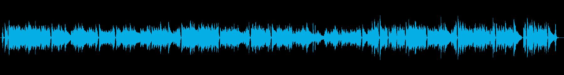 ジャズチックなピアノ曲の再生済みの波形