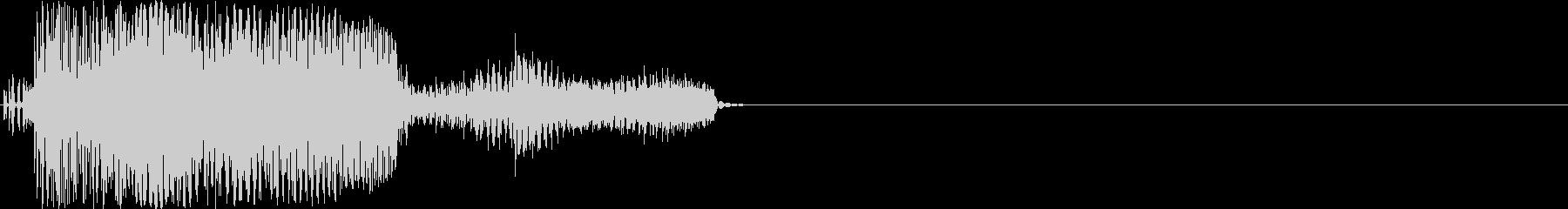 歪み系 KICK+BASSの未再生の波形