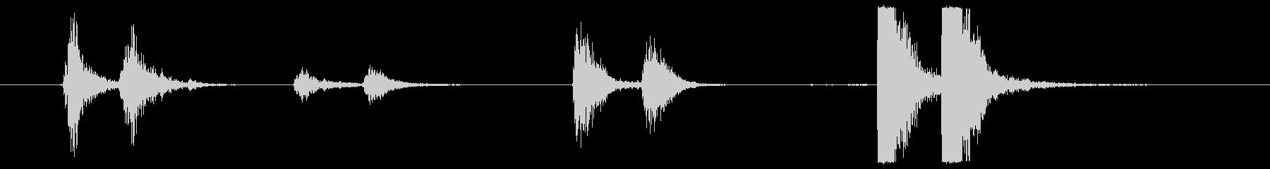 ゲートメタルの前髪と様々なヒットの未再生の波形