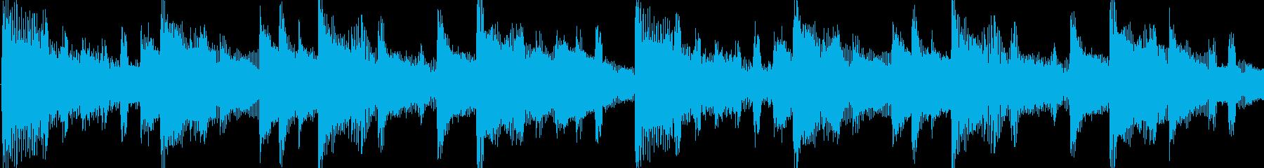 和む、でも少しクールなBGM-ループの再生済みの波形