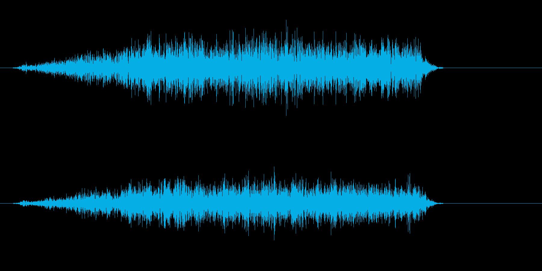 シューーという蒸気の音の再生済みの波形