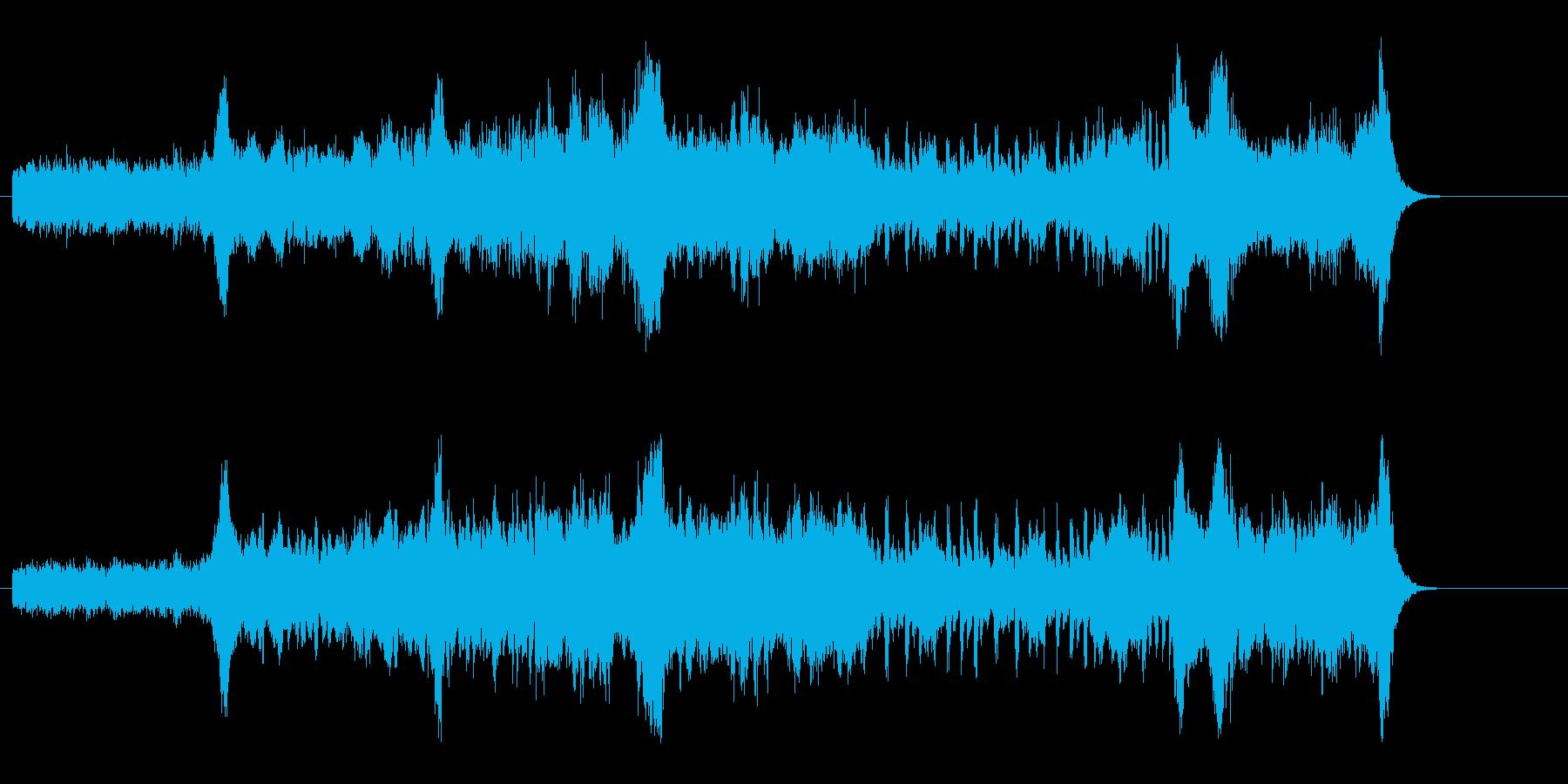 緊迫感のサスペンス風マイナー調の再生済みの波形